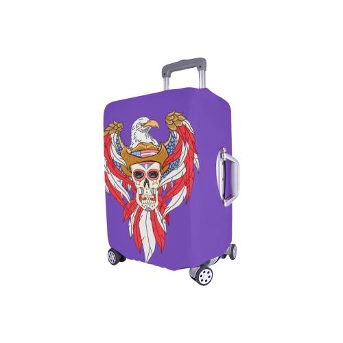 """American Eagle Sugar Skull Purple Luggage Cover/Small 18""""-21"""""""