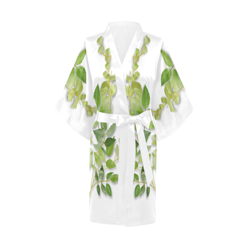 Yellow tiny flower with shadow- floral watercolor Kimono Robe