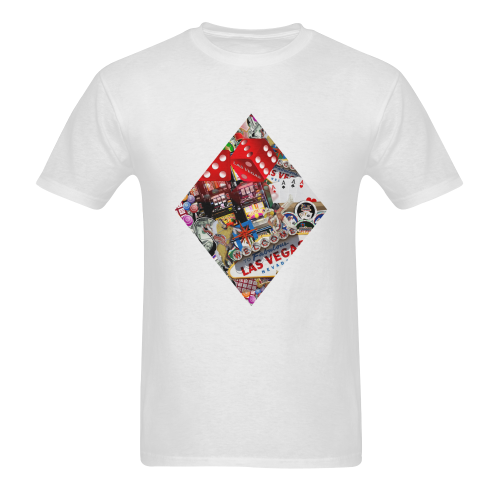 Diamond Playing Card Shape - Las Vegas Icons Men's T-shirt in USA Size (Front Printing Only) (Model T02)