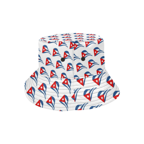 Cuban Flapping Flags All Over Print Bucket Hat