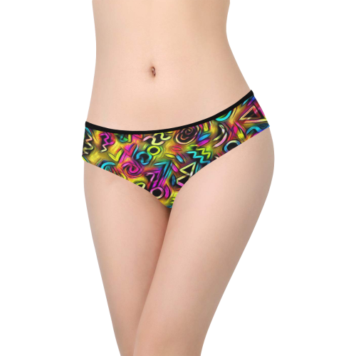 funky doodle  by JAMColors Women's Hipster Panties (Model L33)