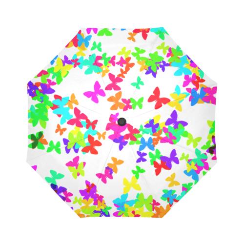 Rainbow butterflys Auto-Foldable Umbrella (Model U04)