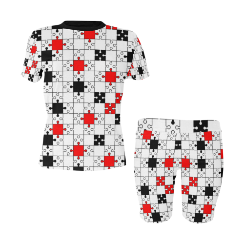 puzzle fun Women's Short Yoga Set (Sets 03)