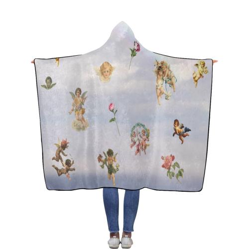My Cherub Flannel Hooded Blanket 56''x80''