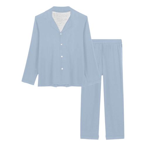 color light steel blue Women's Long Pajama Set (Sets 02)