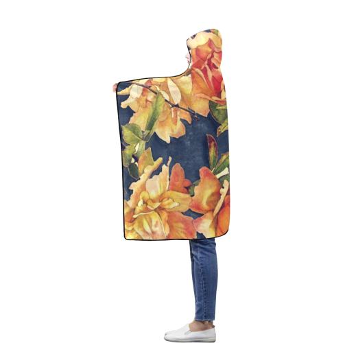 flowers #flowers #pattern #flora Flannel Hooded Blanket 50''x60''