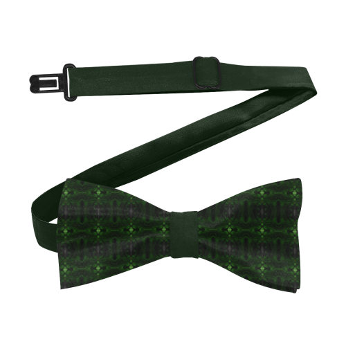 Dark Green Green Glass Kaleidoscope Custom Bow Tie