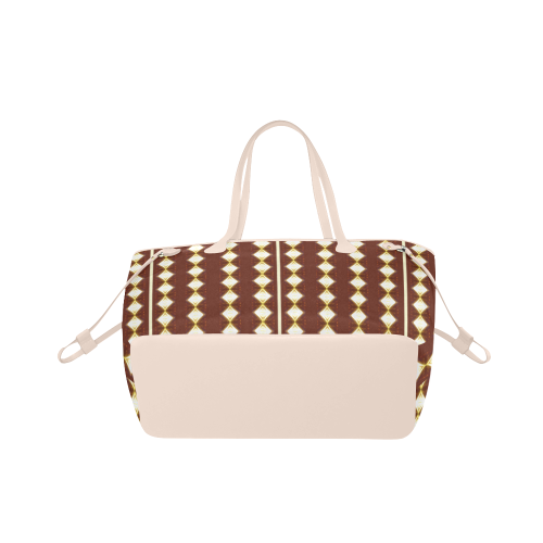 African Cream Diamond Cream Stripe Clover Canvas Tote Bag (Model 1661)