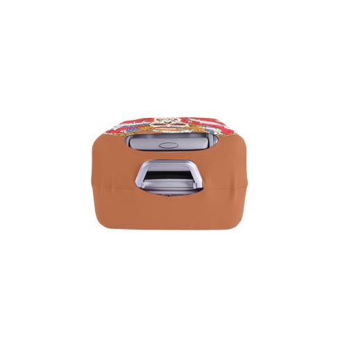 "American Eagle Sugar Skull Rust Brown Luggage Cover/Small 18""-21"""