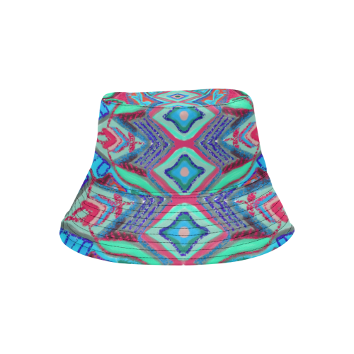 coral 5 All Over Print Bucket Hat