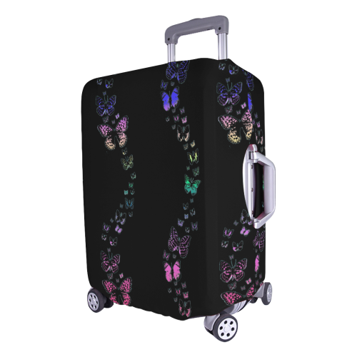 """Rainbow Butterflies Luggage Cover/Large 26""""-28"""""""