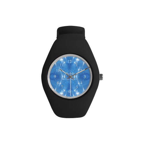 Garkle Blue Black Simple Style Candy Silicone Watch (Model 315)
