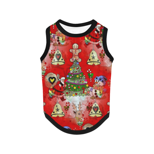 Christmas by Nico Bielow All Over Print Pet Tank Top