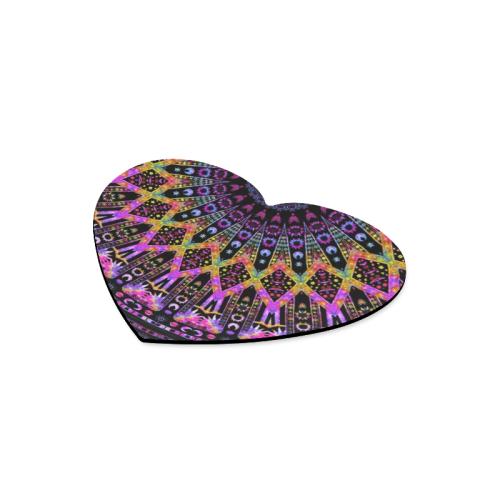 Hippy Boho Purple Elysian Heart-shaped Mousepad