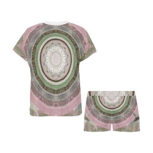 peace mandala 5 Women's Short Pajama Set (Sets 01)