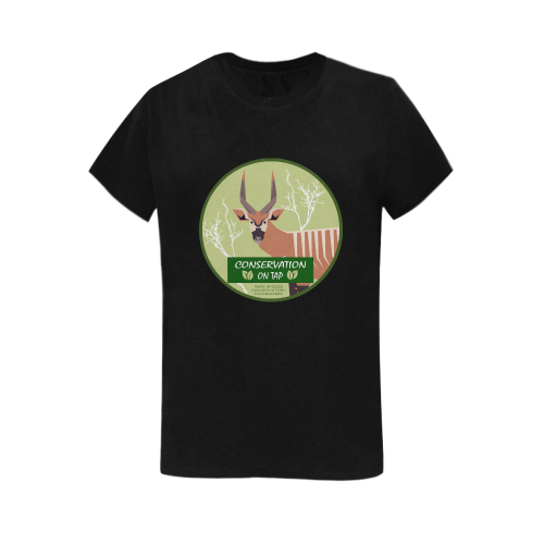 Conservation on Tap Bongo T Womens BK Women's T-Shirt in USA Size (Two Sides Printing)