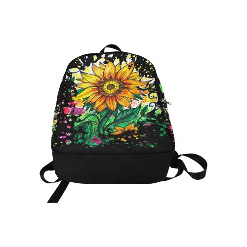 Sunflower Fabric Backpack for Adult (Model 1659)