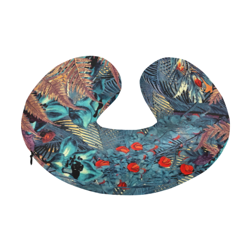 flowers #flowers #pattern U-Shape Travel Pillow