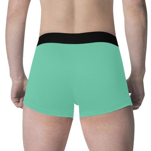 color medium aquamarine Men's All Over Print Boxer Briefs (Model L34)