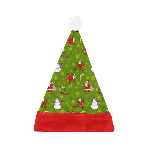 Funny Christmas Santa Claus Snowman Pattern Santa Hat