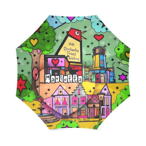 Marietta 2020 Pop Art by Nico Bielow Foldable Umbrella (Model U01)