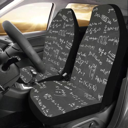 Mathematics Formulas Equations Numbers Car Seat Covers (Set of 2)