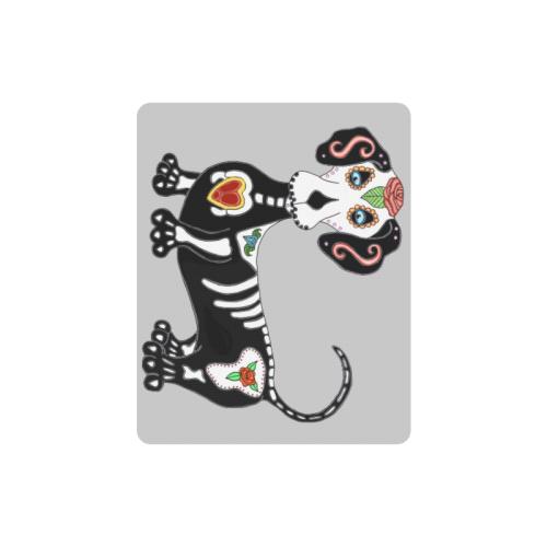 Dachshund Sugar Skull Lt Grey Rectangle Mousepad