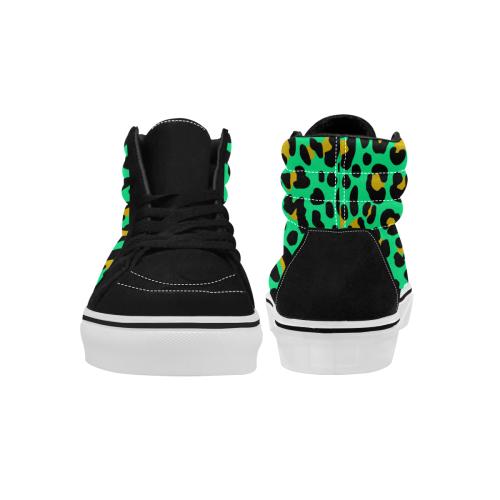 Neonleopard Women's High Top Skateboarding Shoes (Model E001-1)