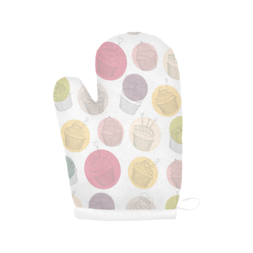 Colorful Cupcakes Oven Mitt