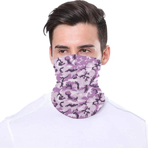 Woodland Pink Purple Camouflage Multifunctional Headwear