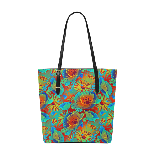 bright tropical floral Euramerican Tote Bag/Small (Model 1655)