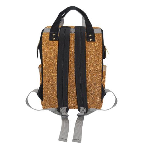 Copper Glitter Multi-Function Diaper Backpack (Model 1688)