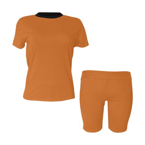color chocolate Women's Short Yoga Set (Sets 03)