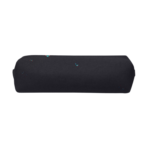 Blue Bubbles on Black Background Photo Pencil Pouch/Small (Model 1681)