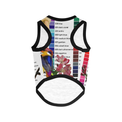 Colour Chart with Kingfisher All Over Print Pet Tank Top