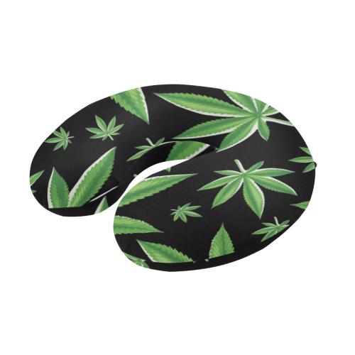 Green Leaf U-Shape Travel Pillow