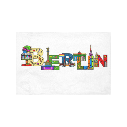 Berlin by Nico Bielow Motorcycle Flag (Twin Sides)