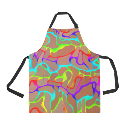 Colorful wavy shapes All Over Print Apron