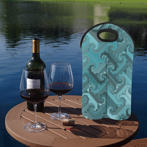 tealsteel 2-Bottle Neoprene Wine Bag