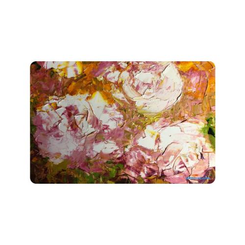 """white roses Doormat 24""""x16"""""""