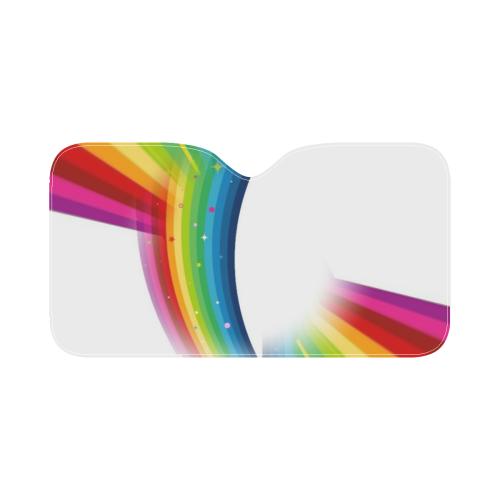 """Rainbow by Popartlover Car Sun Shade 55""""x30"""""""