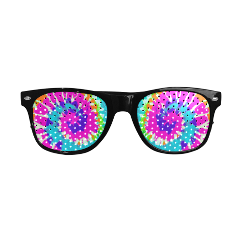 Power Spiral Batik pink blue purple orange Custom Goggles (Perforated Lenses)