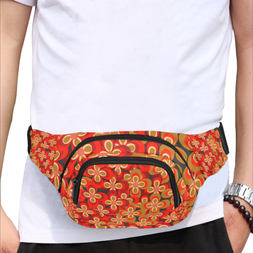 zappwaits flower 3 Fanny Pack/Small (Model 1677)