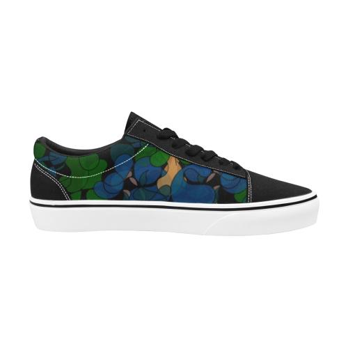 zappwaits california 02 Women's Low Top Skateboarding Shoes (Model E001-2)