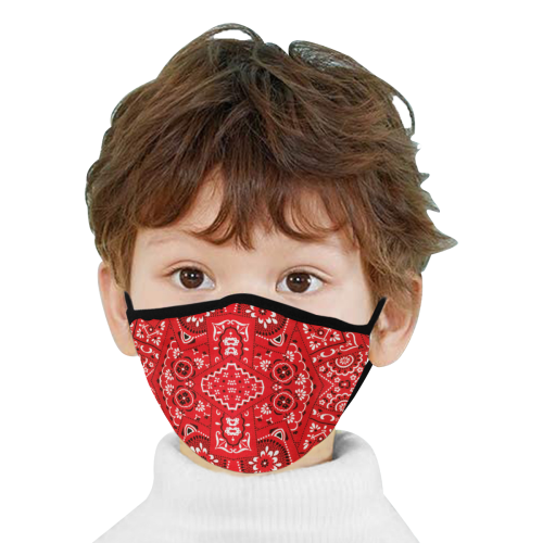 Bandana Squares Pattern Mouth Mask