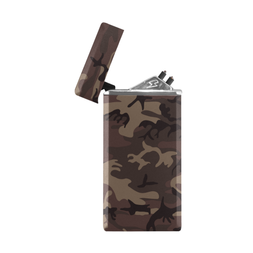 Camo Red Brown Rectangular USB Lighter (Lateral Button)