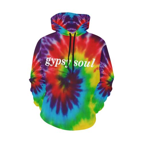 gypsy soul Tie Dye Women's Hoodie All Over Print Hoodie for Women (USA Size) (Model H13)