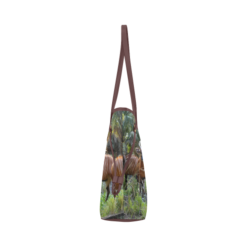Bongo in the Field Clover Canvas Tote Bag (Model 1661)