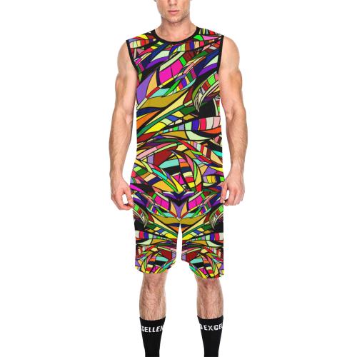 colorful abstract All Over Print Basketball Uniform