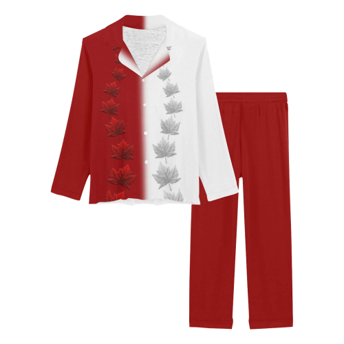 Canada Sleepwear / Loungewear 2 Tone Women's Long Pajama Set (Sets 02)
